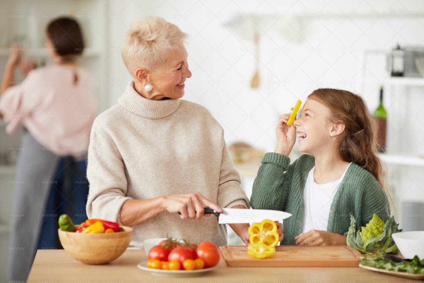 Grandmother And Granddaughter: Stock Photos