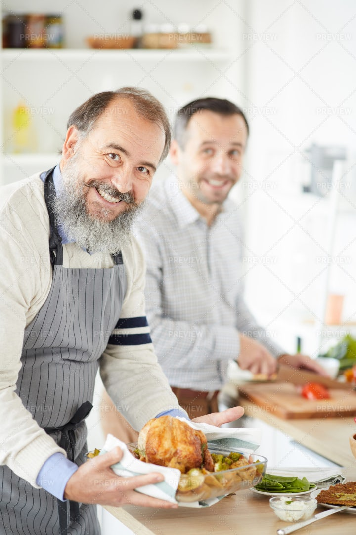 Preparing Turkey At Home: Stock Photos