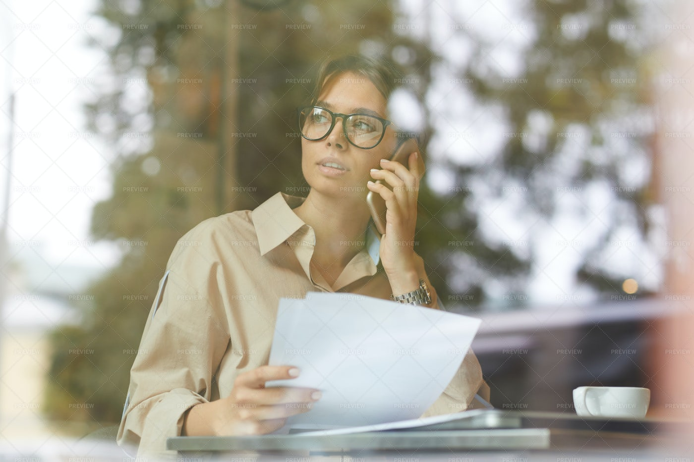 Young Businesswoman Working: Stock Photos