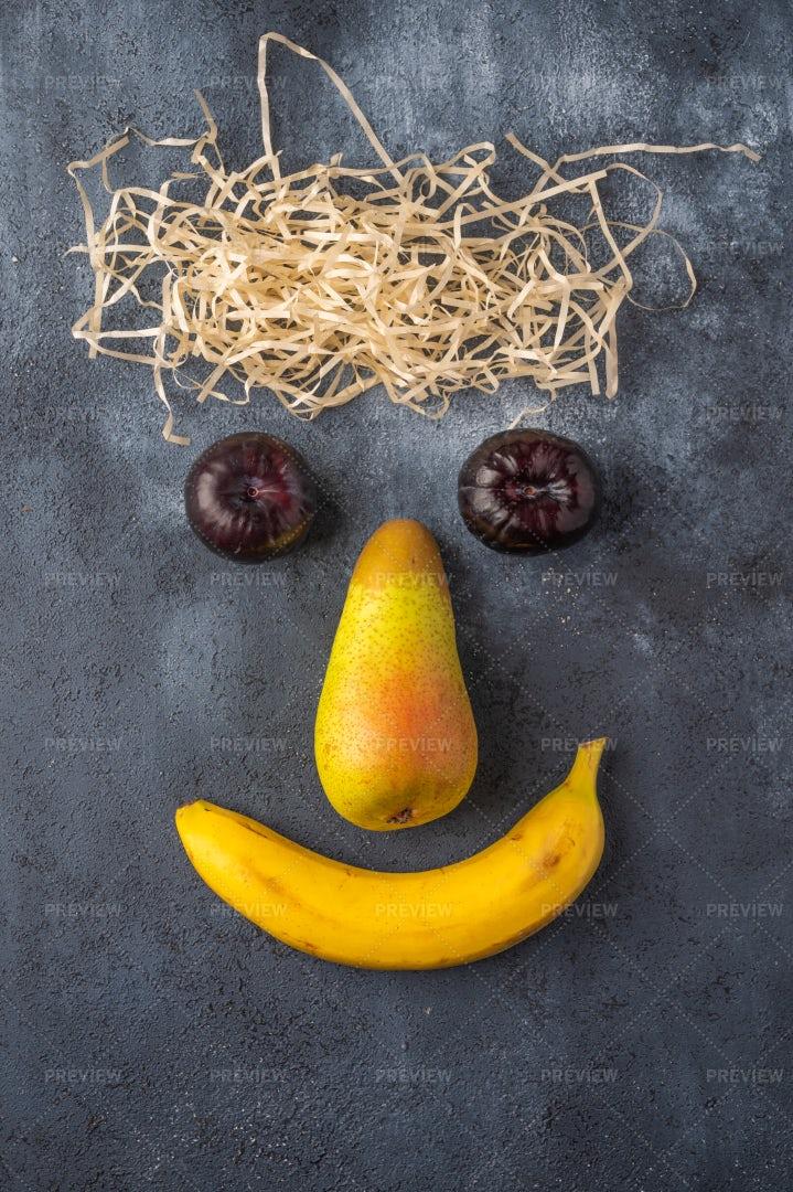 Concept Face Of Fruit: Stock Photos