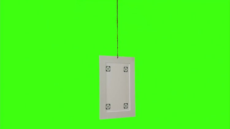 Vertical Picture Frame Green Screen: Stock Video