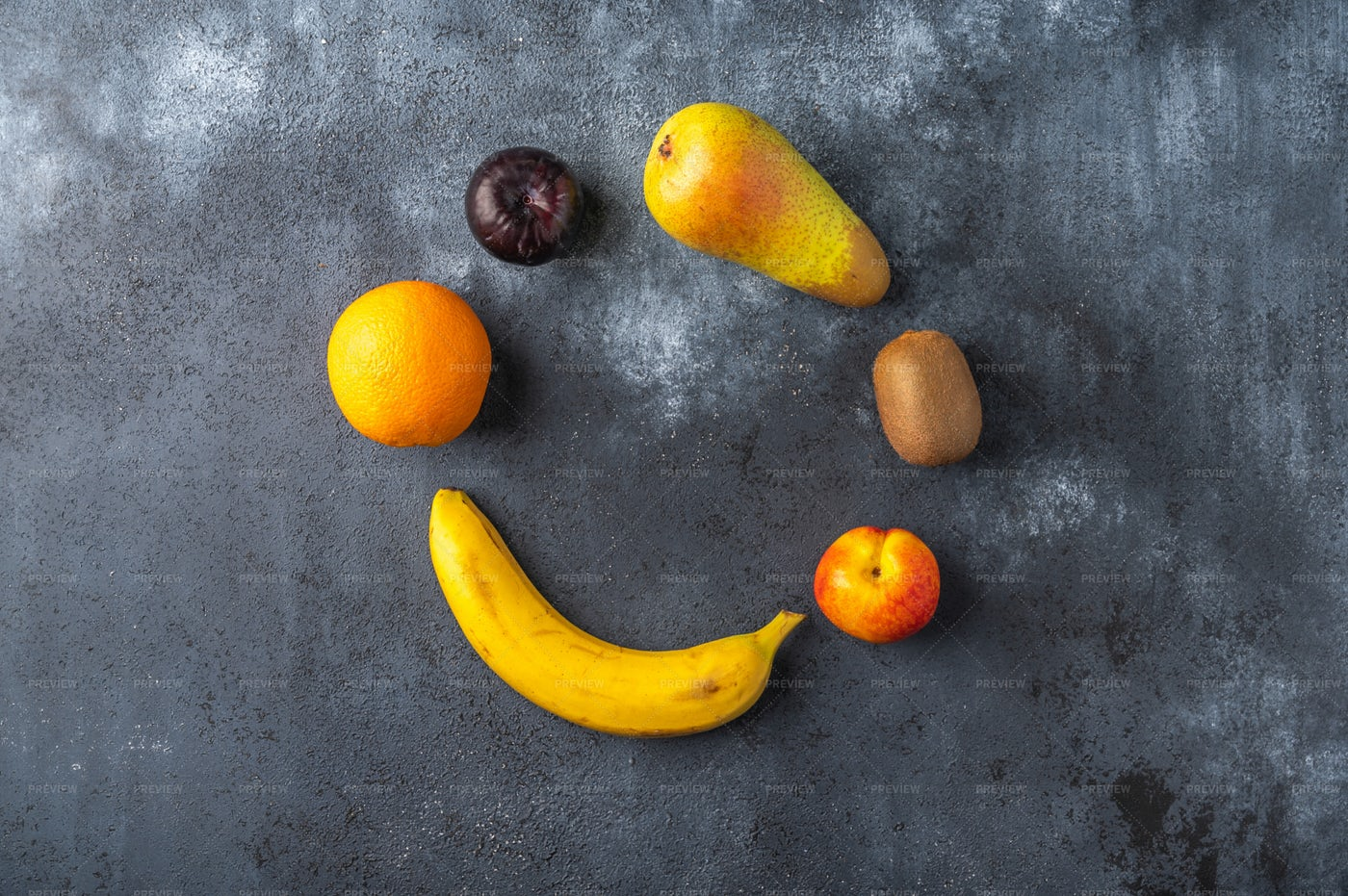 Tasty Fruits In Circle: Stock Photos