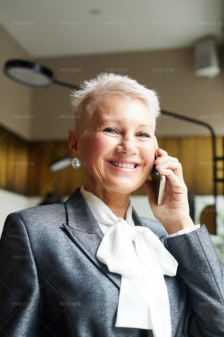 Woman Talking On The Phone: Stock Photos