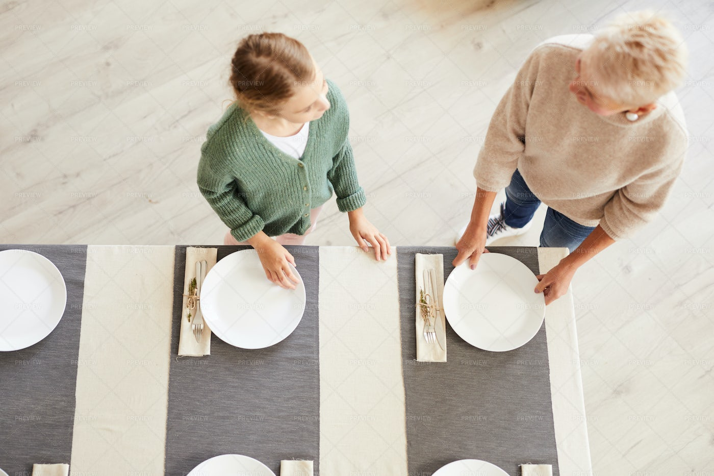 Setting The Table: Stock Photos
