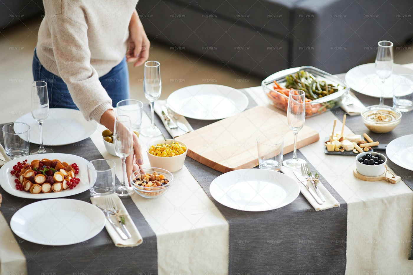 Dinner Is Served: Stock Photos