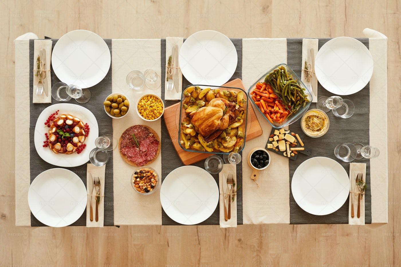 The Thanksgiving Dinner: Stock Photos