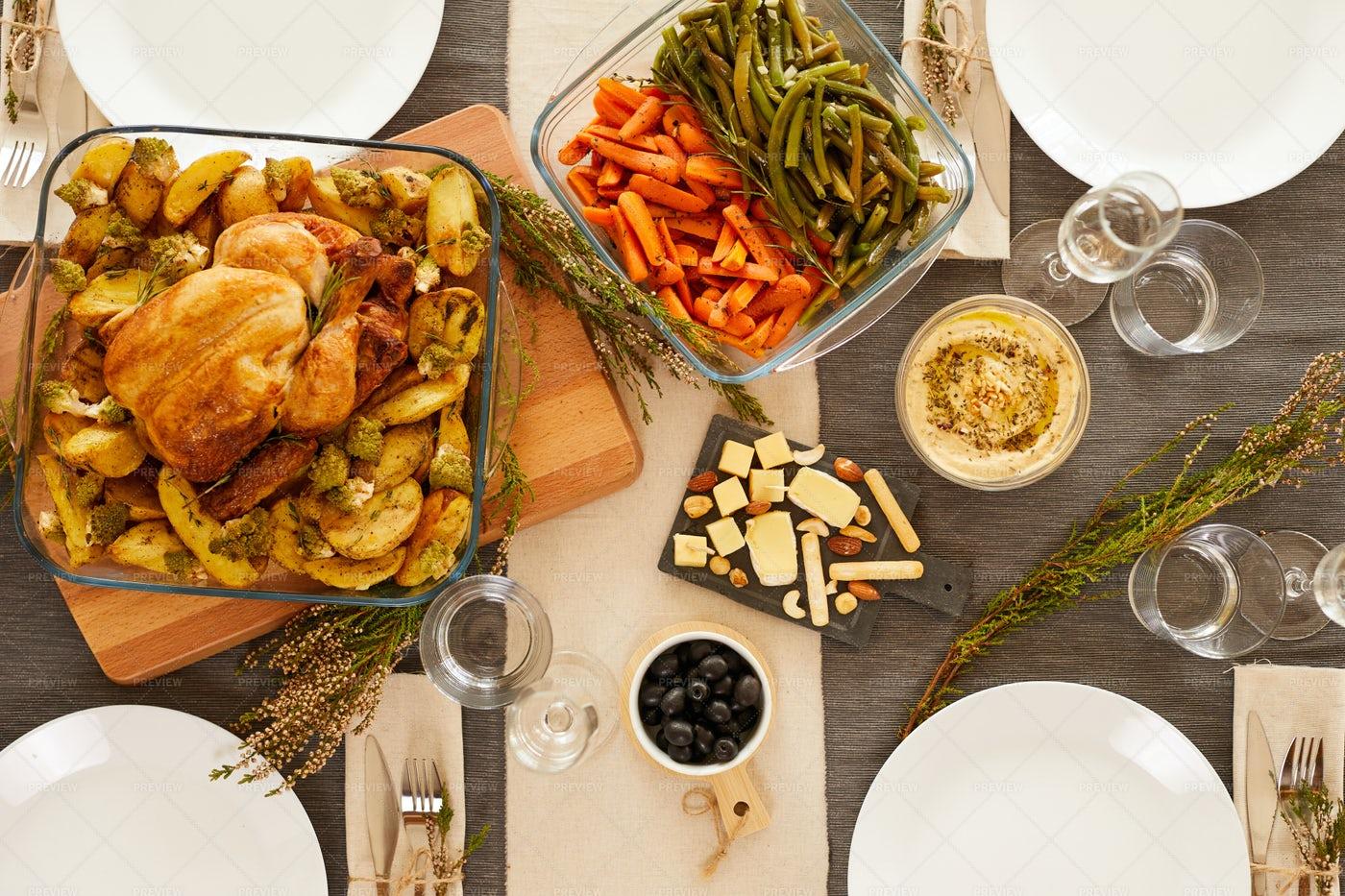Roast Turkey With Vegetables: Stock Photos