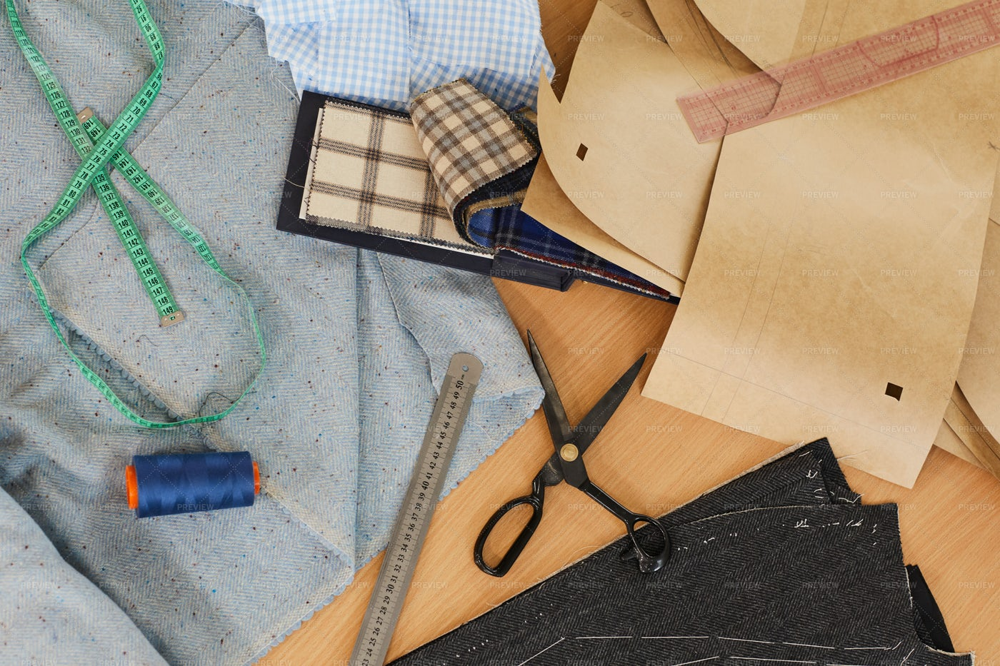 Useful Objects For Sewing: Stock Photos