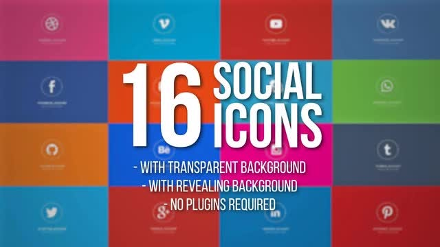 Animated Social Icons: After Effects Templates