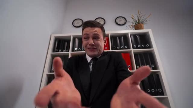 Businessman Cursing In His Office: Stock Video