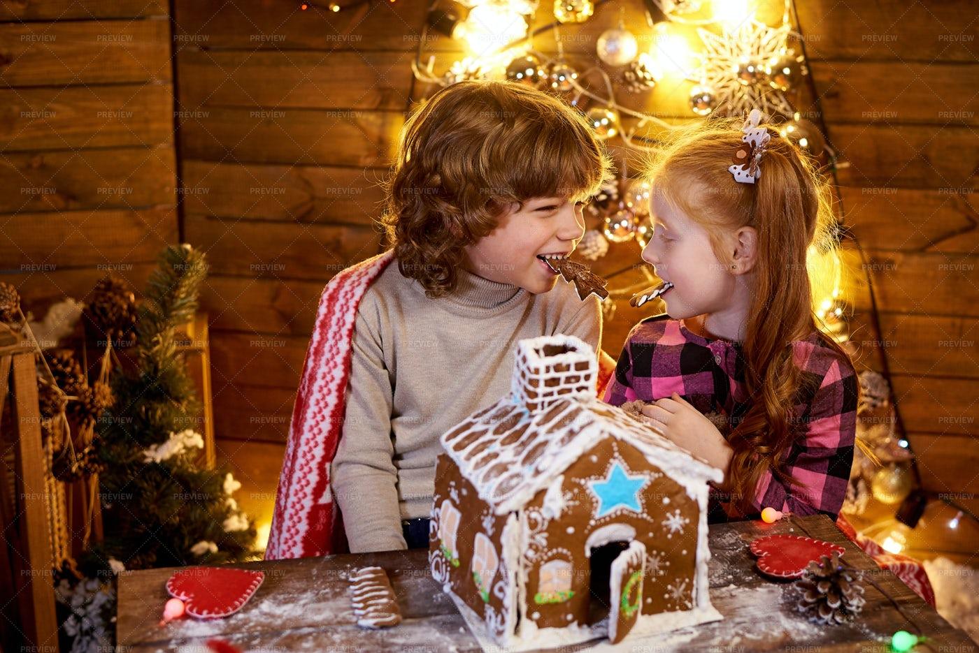 Kids Enjoying Christmas: Stock Photos