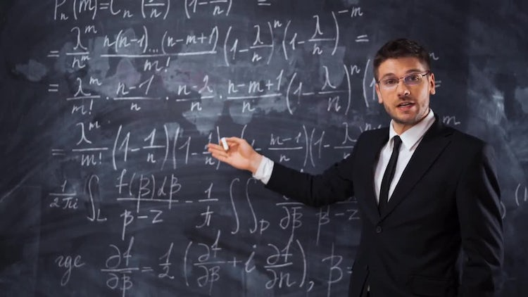 Male Teacher Explaining Math Equation: Stock Video