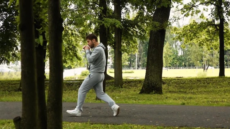 Boxer Athlete Exercising In Park: Stock Video