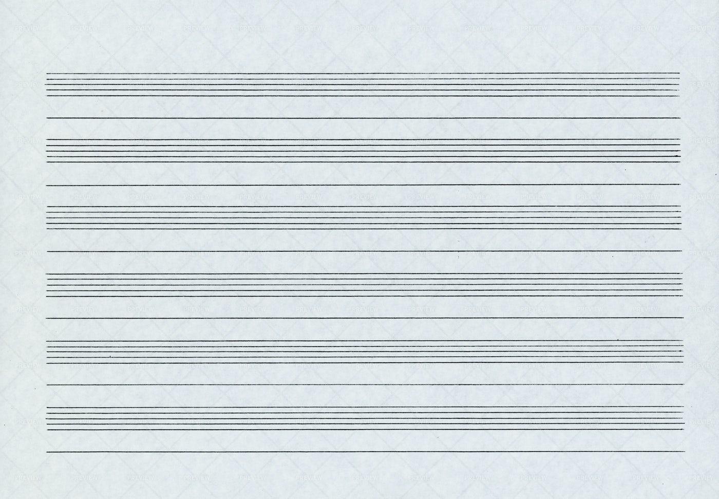 Music Staff Paper: Stock Photos