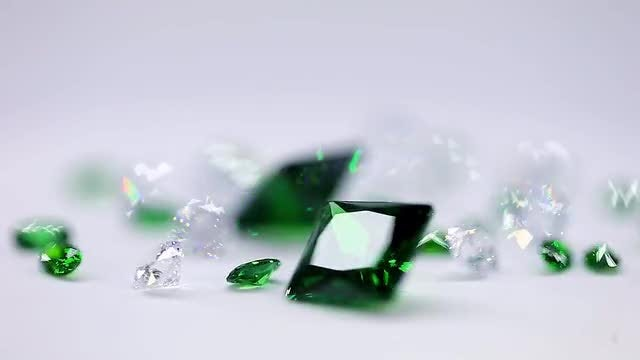 Diamonds And Emeralds: Stock Video