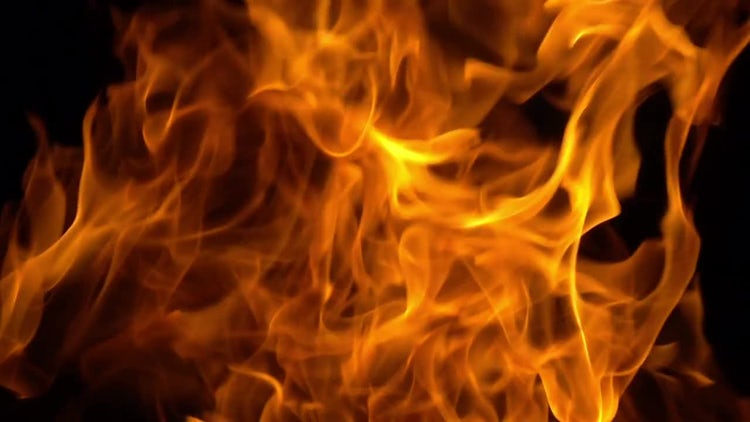 Golden Flames Forming Spectacular Abstract: Stock Video