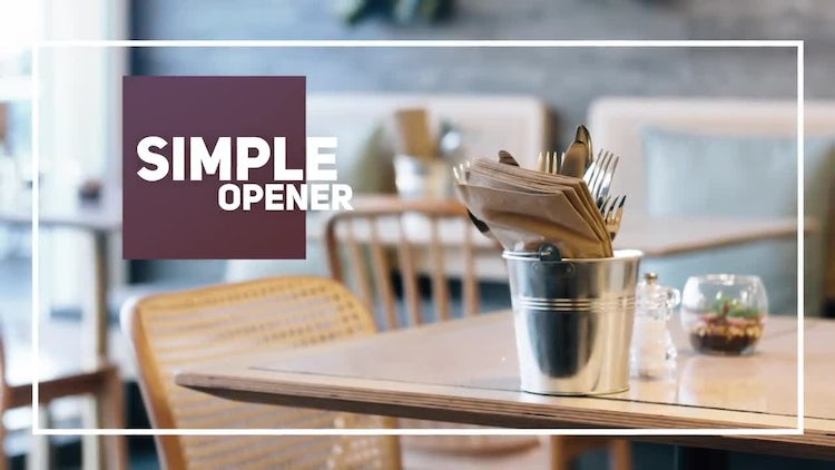 Simple Clean Opener: After Effects Templates