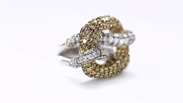 Gold And Diamond Ring Rotating: Stock Video