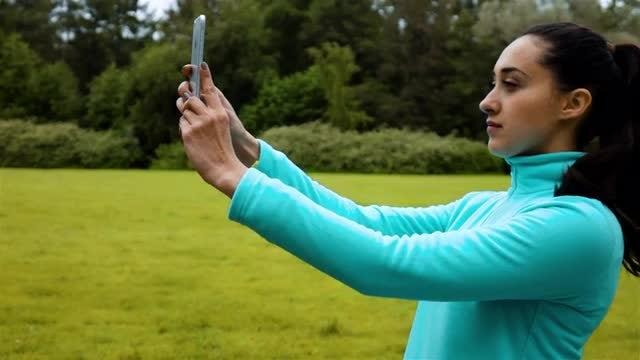Selfie During Morning Jog: Stock Video