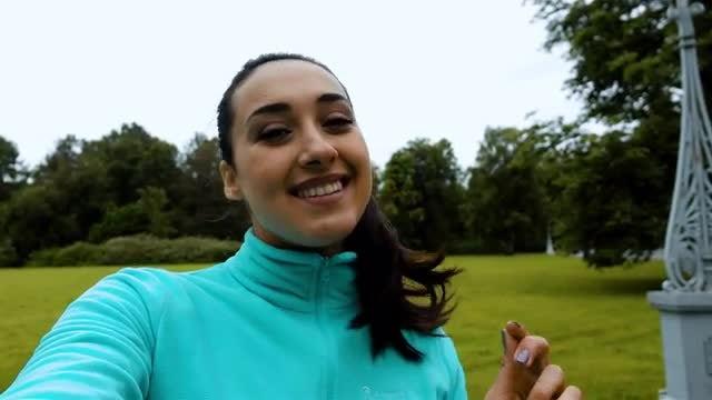Attractive Woman Taking Selfie : Stock Video