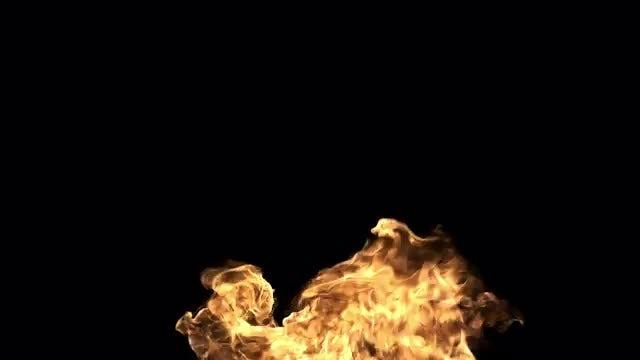 Golden Fire Flames Flying High: Stock Video