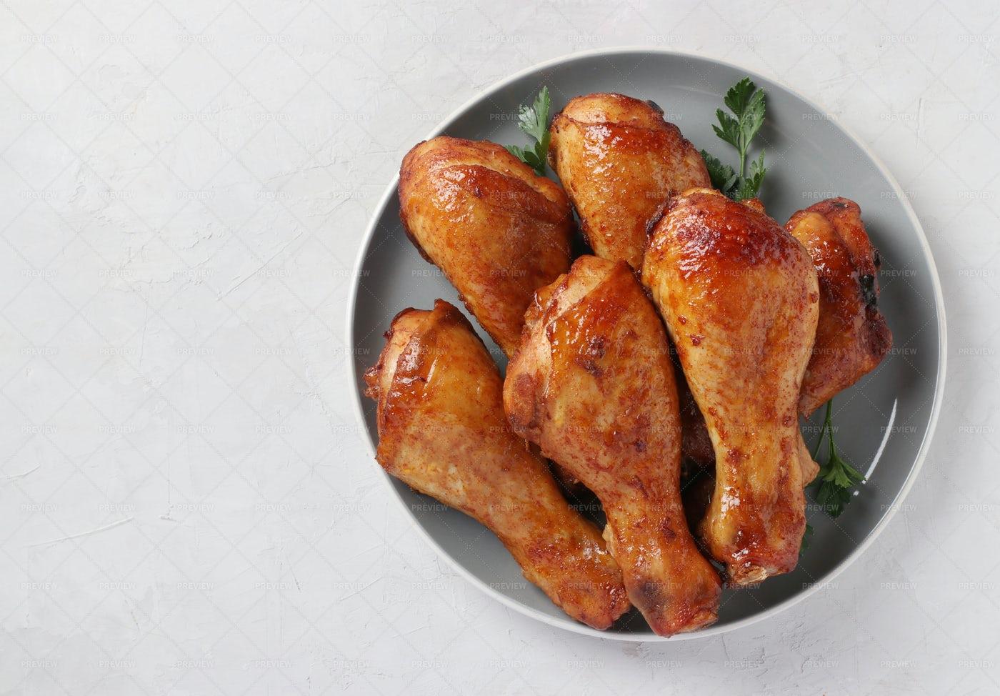 Roasted Chicken Drumsticks: Stock Photos