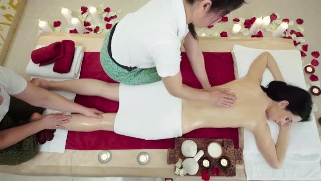 Woman Enjoying Massage Treatment: Stock Video