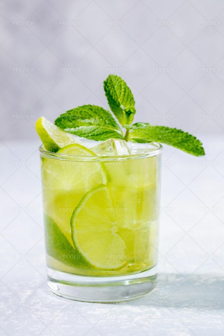 One Glass Of Matcha Tea: Stock Photos
