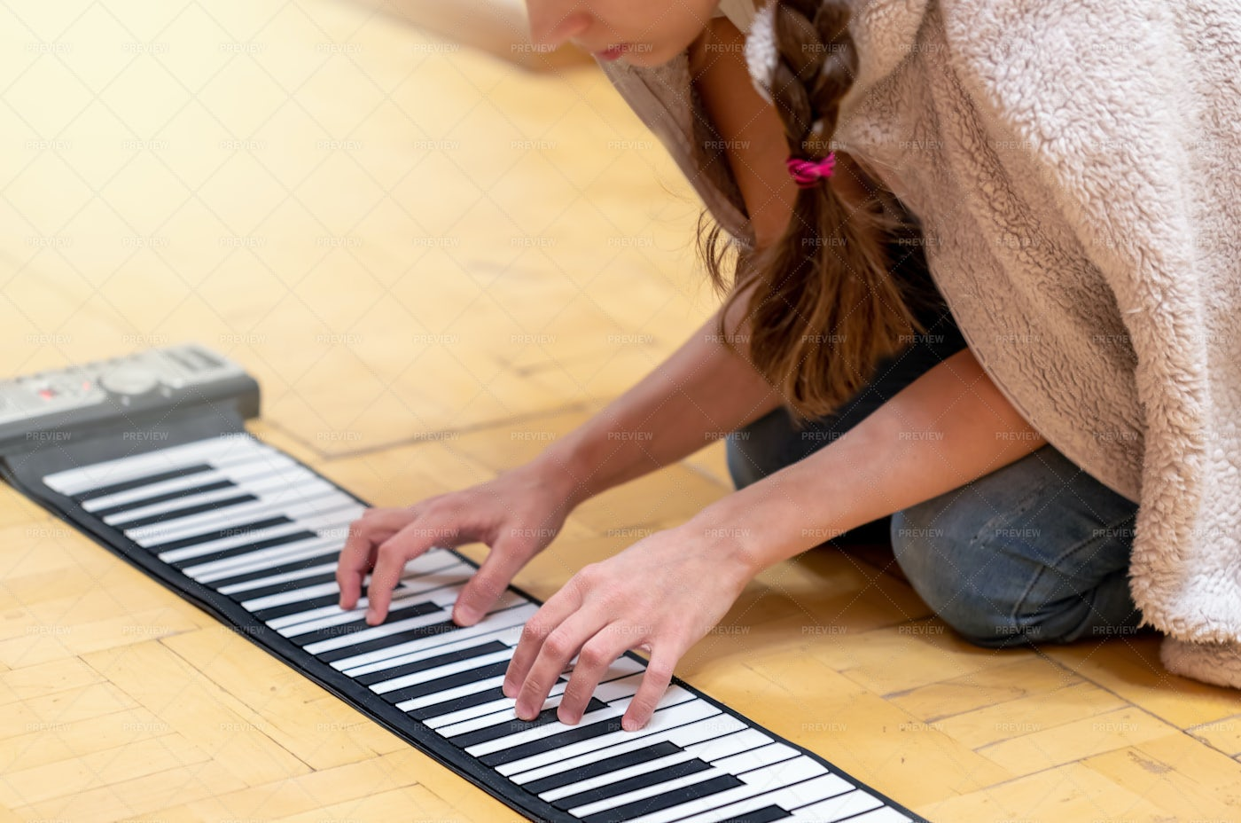 Hands And Piano Keyboard: Stock Photos