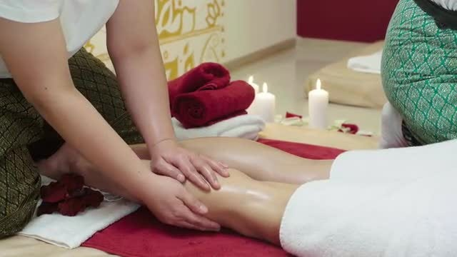 Masseuse Giving Feet Massage  : Stock Video