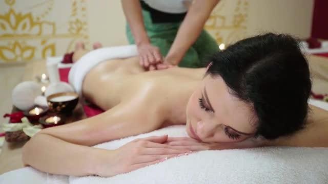 Woman Receiving Massage Treatment: Stock Video