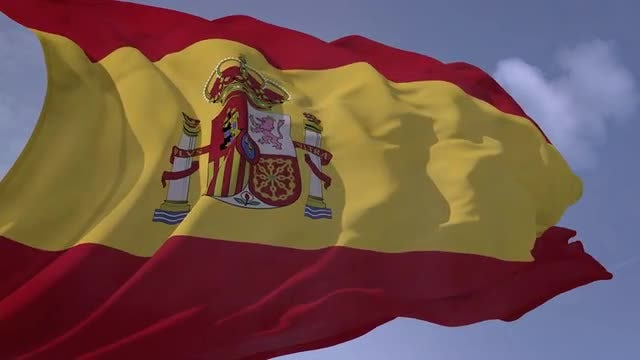 Spain Flag: Stock Motion Graphics