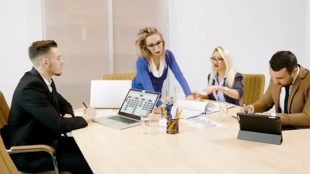 Business Partners at A meeting: Stock Video