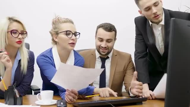 Business Partners Working In Office: Stock Video