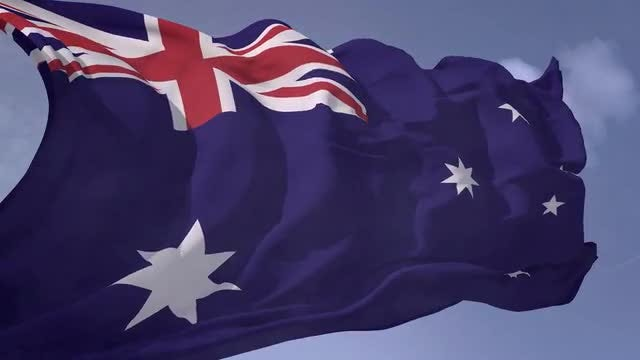 Australia flag: Stock Motion Graphics