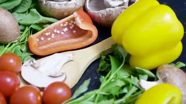 Dolly Shot Of Fresh Vegetables: Stock Video