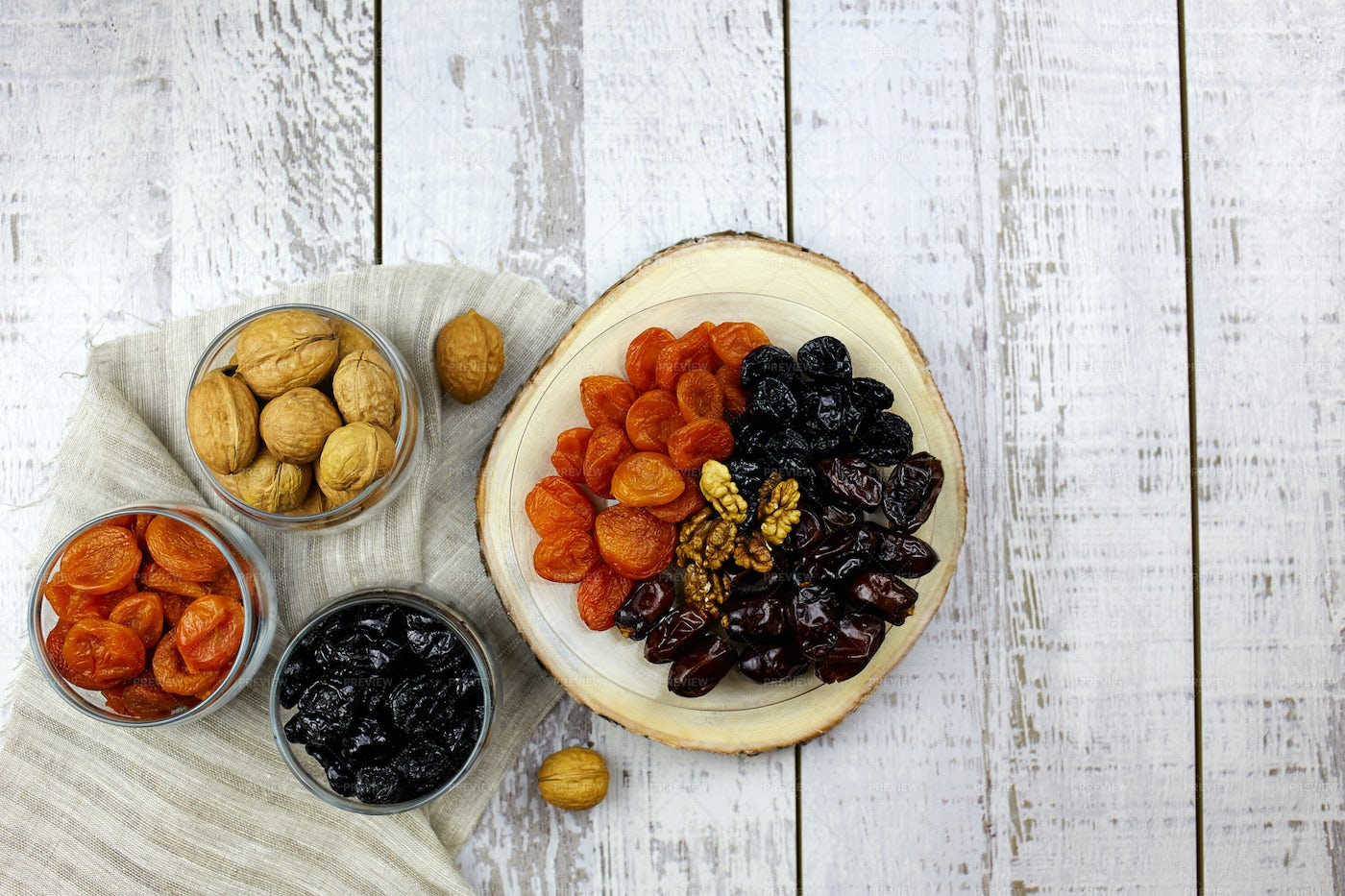 Dates, Nuts, Dried Apricots: Stock Photos