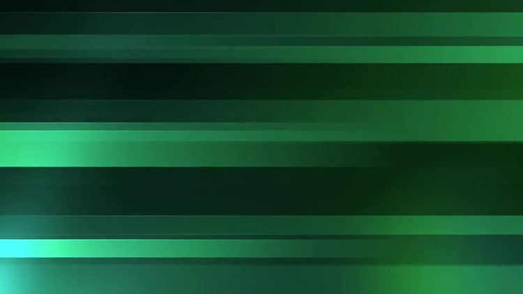 Green Horizontal Bars: Motion Graphics