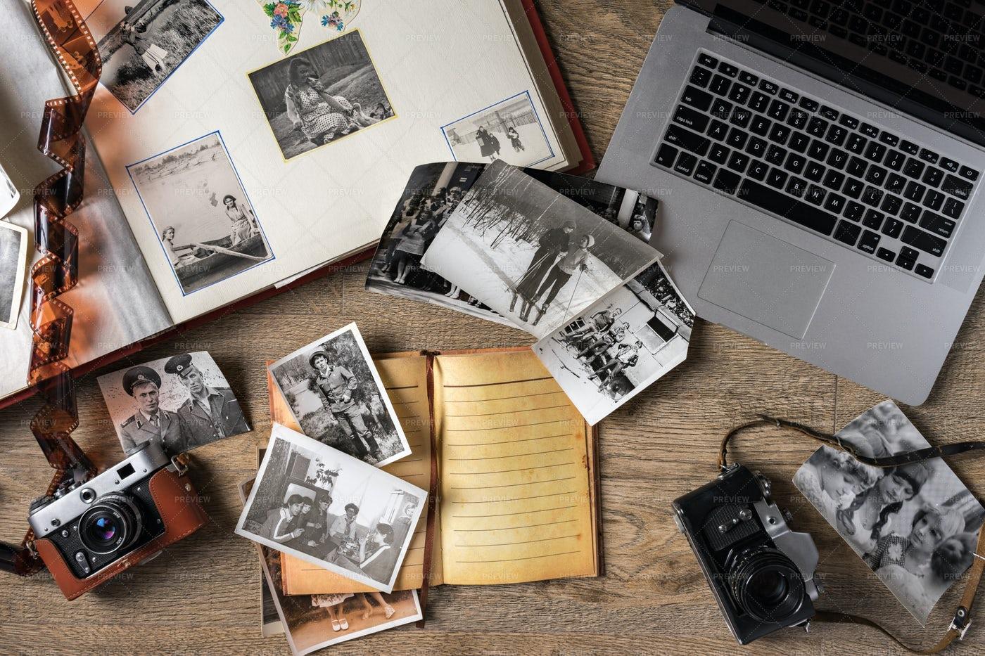Old Family Photos: Stock Photos