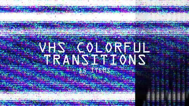 VHS Colorful Transitions Pack: Stock Motion Graphics