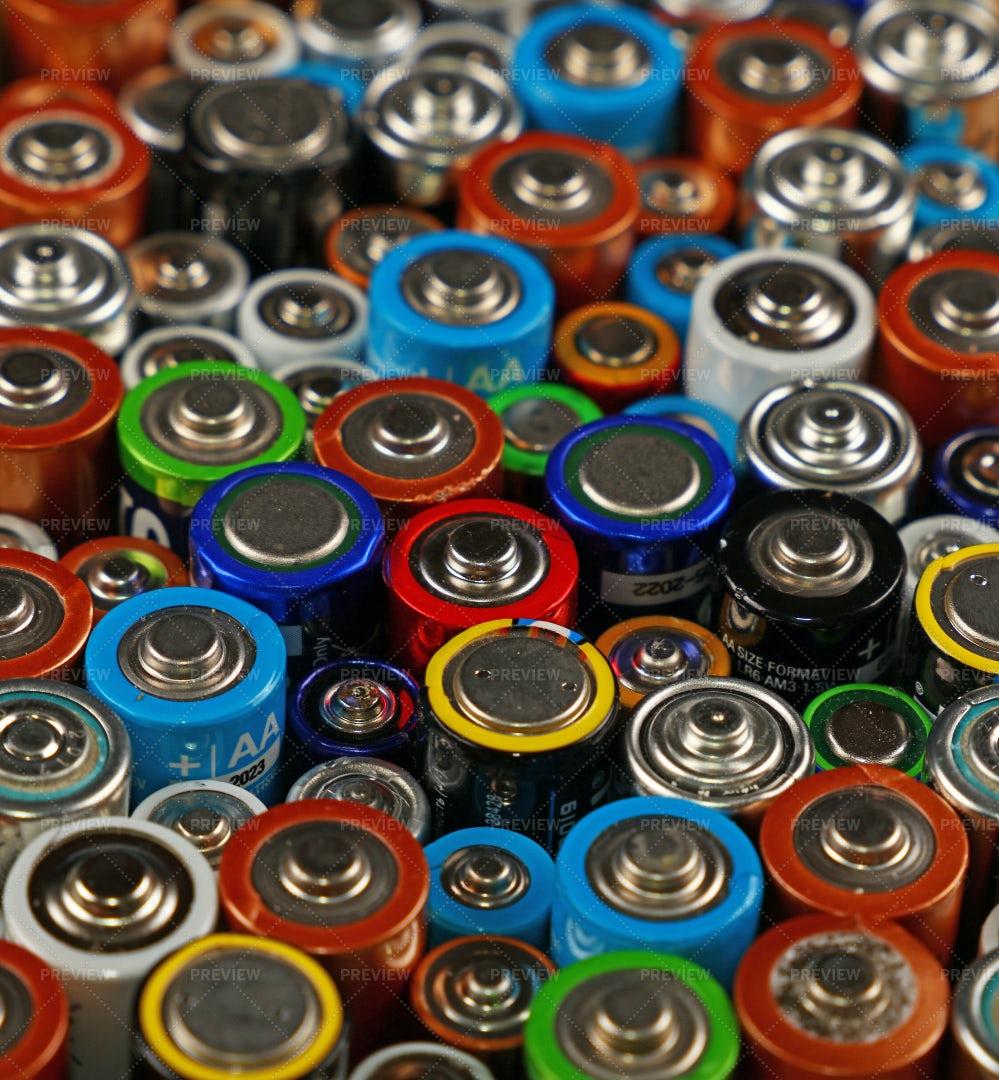 Alkaline Batteries: Stock Photos