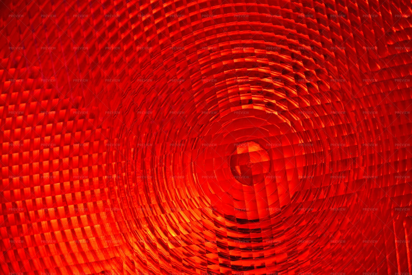 Red Faceted Plastic Reflector: Stock Photos