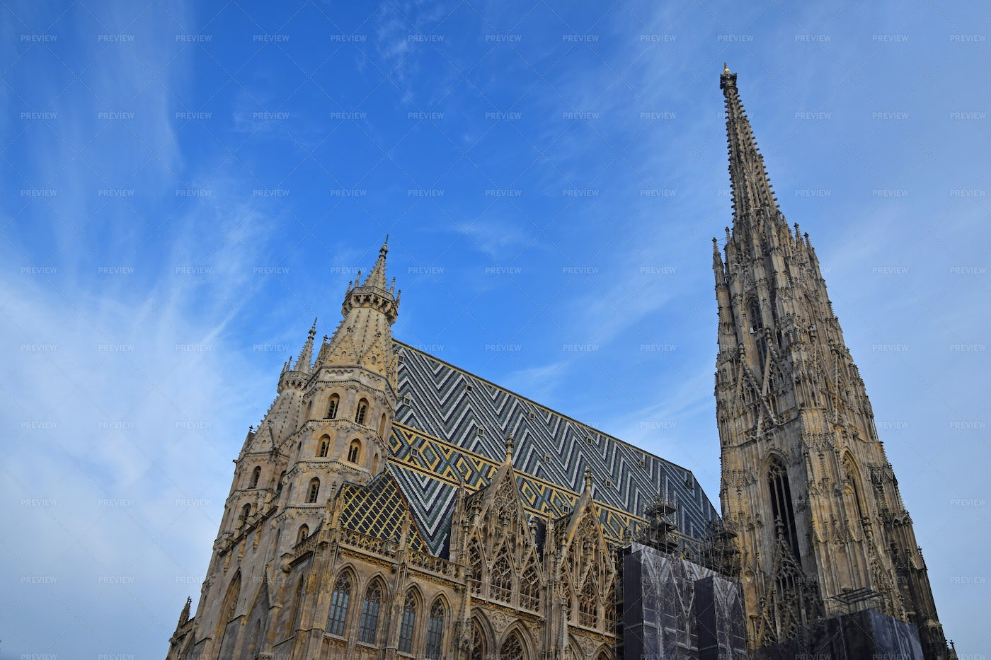 Saint Stephen Cathedral In Vienna: Stock Photos