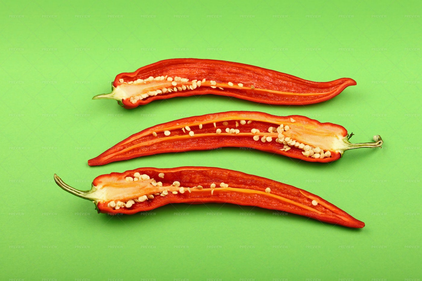 Red Chili Peppers: Stock Photos
