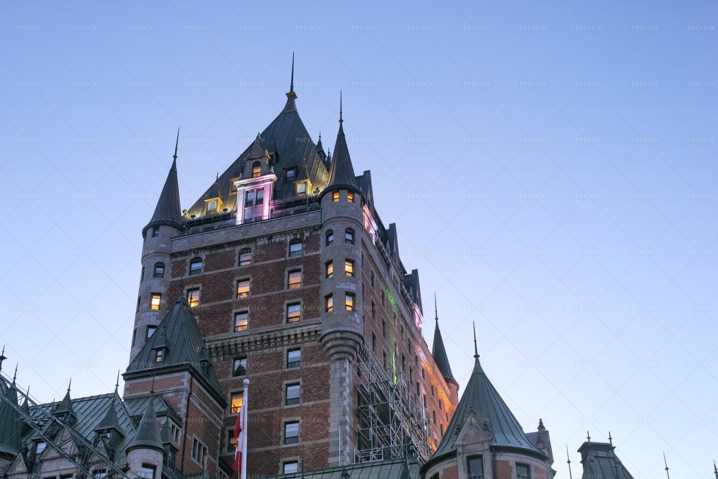 Chateau Frontenac Quebec: Stock Photos
