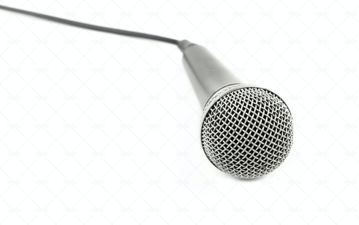 Microphone With Cable: Stock Photos