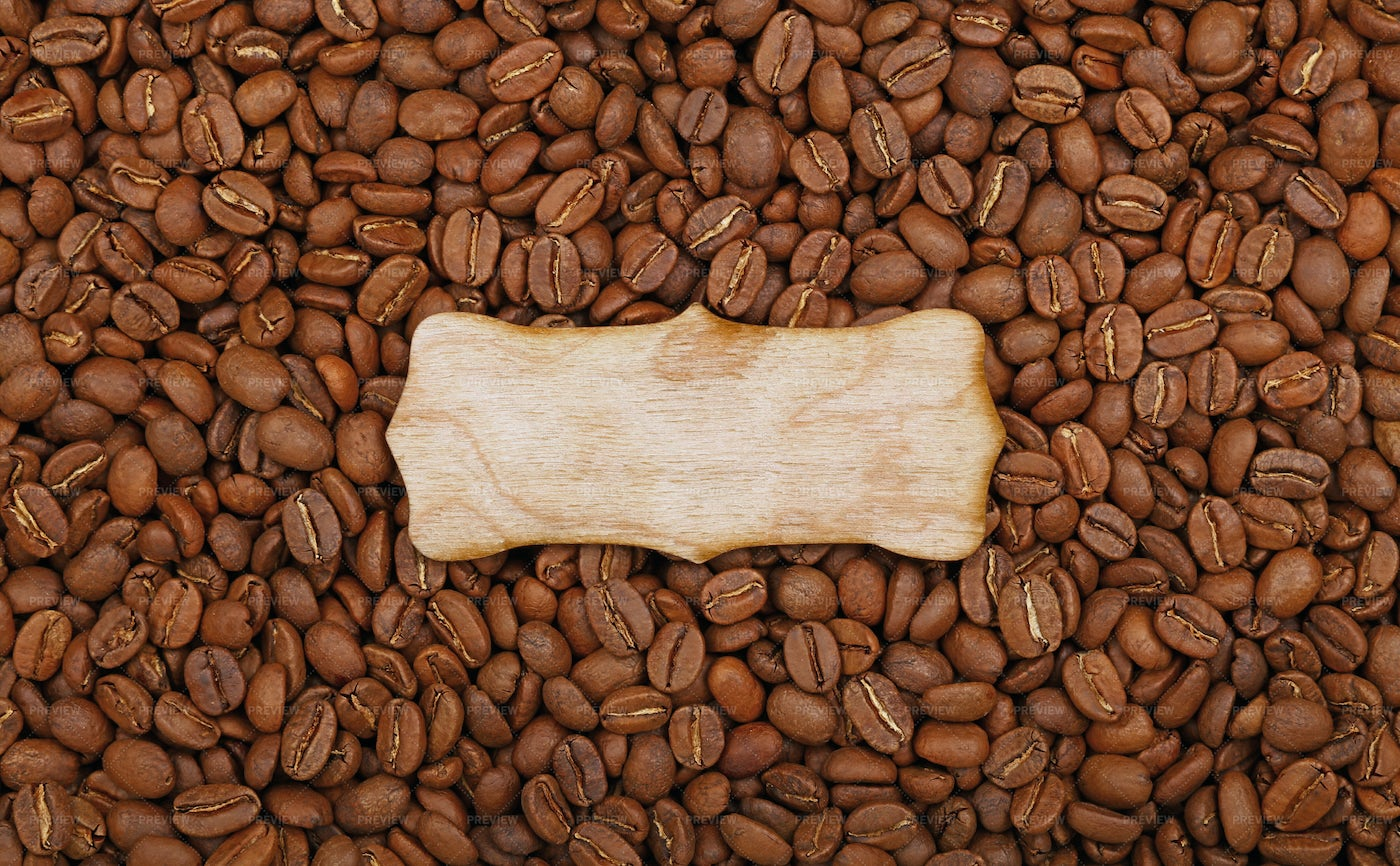 Wooden Sign Over Beans: Stock Photos