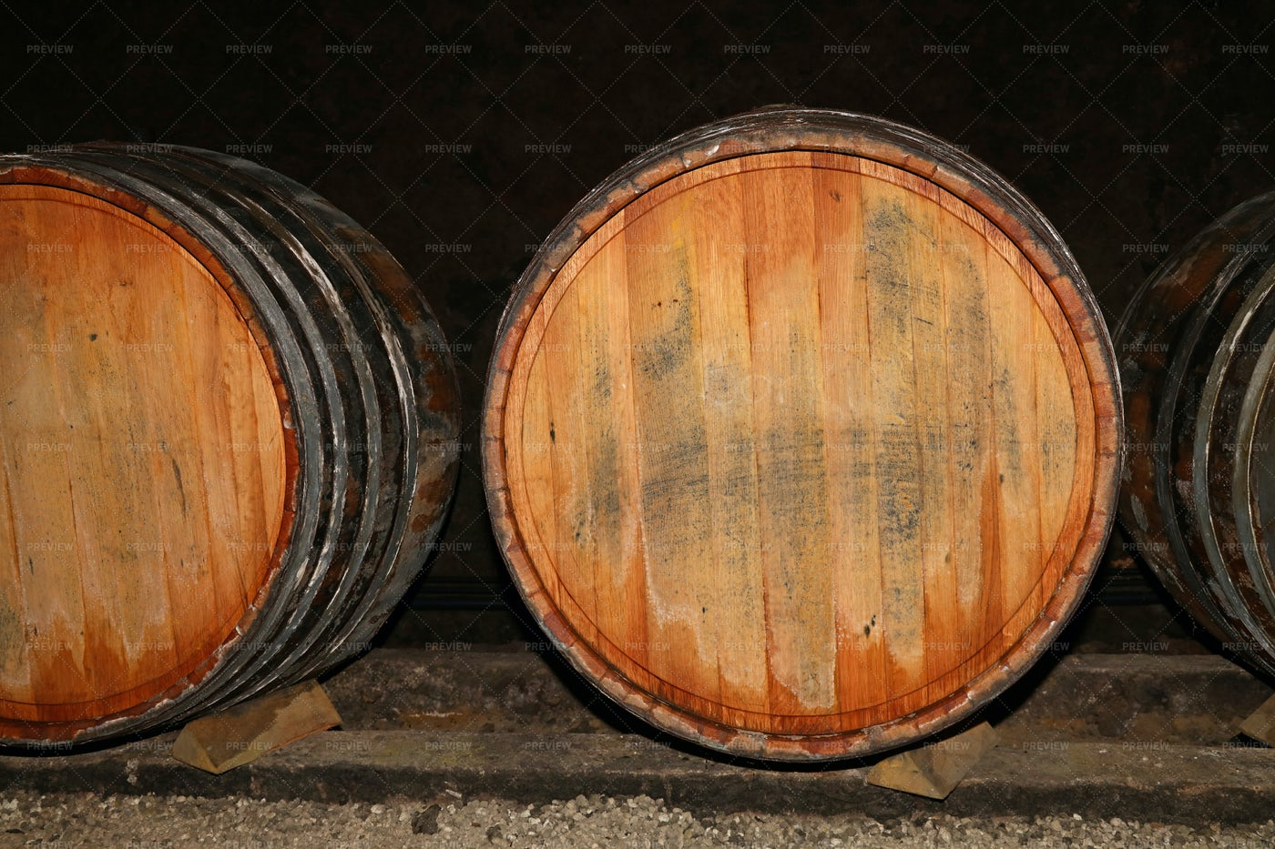 Oak Wine Barrels: Stock Photos