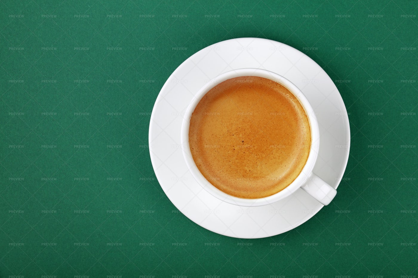 Espresso Cup On Green: Stock Photos