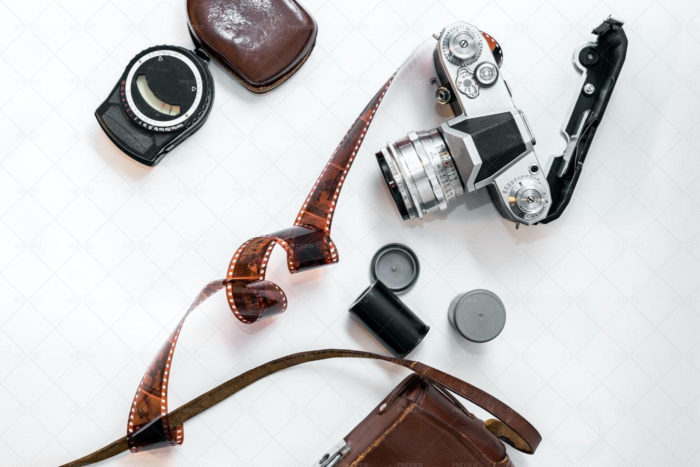 Vintage Photography Set: Stock Photos